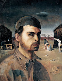 Self portrait by Felix Nussbaum (bron: Wikipedia)